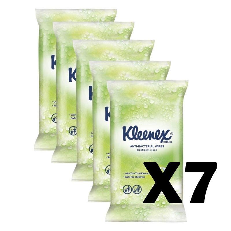 Kleenex Antibacterial Wipes (15 Wipes) x 7 Packets