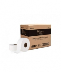Livi Essentials Bathroom Jumbo T/Paper 1ply 600m x8rolls/car