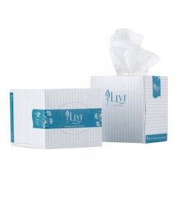 Livi Facial Tissue Cube 2ply 90 sheets x 24 Packets