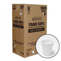 DART 8oz/235ml Cups Foam 1000/carton
