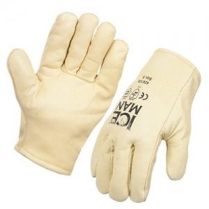 "Freezer Glove Leather Furlined ""Iceman"" - Medium"