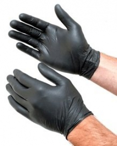 NITRILE Gloves Powder Free BLACK - XLARGE 100 gloves per pac