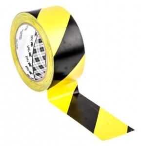3M Floor Marking Tape Black/Yellow 48mmx33m