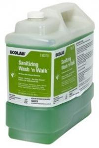 Ecolab Sanitizing Wash 'N Walk-Drain & Floor Cleaner - 10Ltr