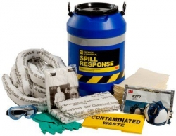 3M Chemical Sorbent Spill Response Kit Drum - 35L
