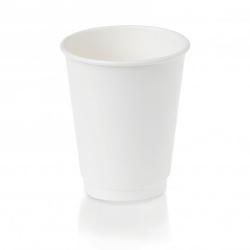 Cup - 12oz Double Wall White 500 per Box