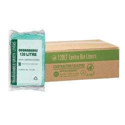 Bin Liner 120Ltr Enviro Green - Degradable 200/ctn