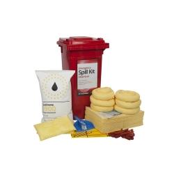 120 Litre Wheeled Bin Standard Spill Kit - Chemical