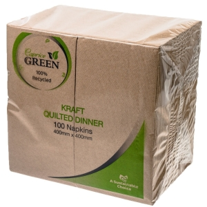 Caprice Green Quilted Dinner Napkin GT Fold