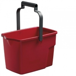 Bucket 9Ltr Rectangle Red