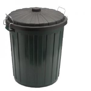 Bin 75Lt Green Plastic NAB