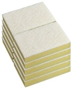 Sponges White/Yellow 15cmx10cm (10 pack)
