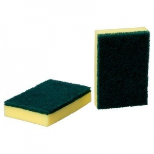 3M Green and Yellow Sponge- 15cmx10cm (50/Carton)