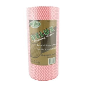 Maxpak Deluxe RED Wipes 50x30cm 90 Sheets per Roll