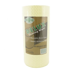 Maxpak Deluxe YELLOW Wipes 50x30cm 90 Sheets per Roll