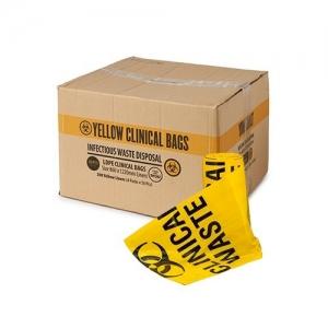 Bin Liner 130Lt Yellow - Clinical Waste Bag 200